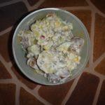 Салат картофельный с огурцами