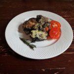 Запеканка из куриной печени и овощей в духовке