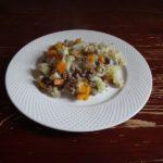 Макароны с говяжьим фаршем и овощами