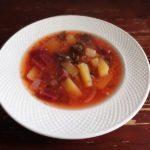 Суп из свеклы, гречки и картошки