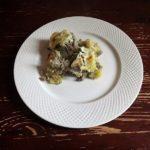 Картофельная запеканка с говяжьим фаршем и сметаной в духовке