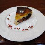 Пирог со сливами и бананом