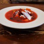 Рыбный суп со свеклой