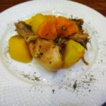 Куриные бедрышки с овощами в рукаве для запекания