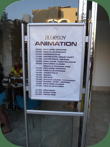 анимация в отеле Blue Bay Platinum 5*