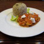 Треска под овощами в духовке