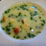 Быстрый сырный суп с яйцом