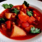 Гороховый суп со свеклой