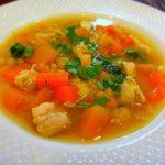 Гороховый суп с куриными крылышками