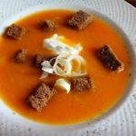 Суп пюре из тыквы с сухариками