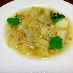 Суп из капусты и перловки
