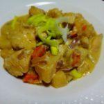 Кура с овощами в горчичном соусе