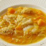 Тыквенный суп с хлебом