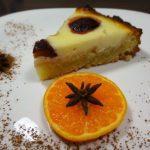 Творожно сливовый пирог