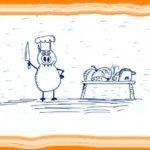 Свинни мнит себя шеф-поваром