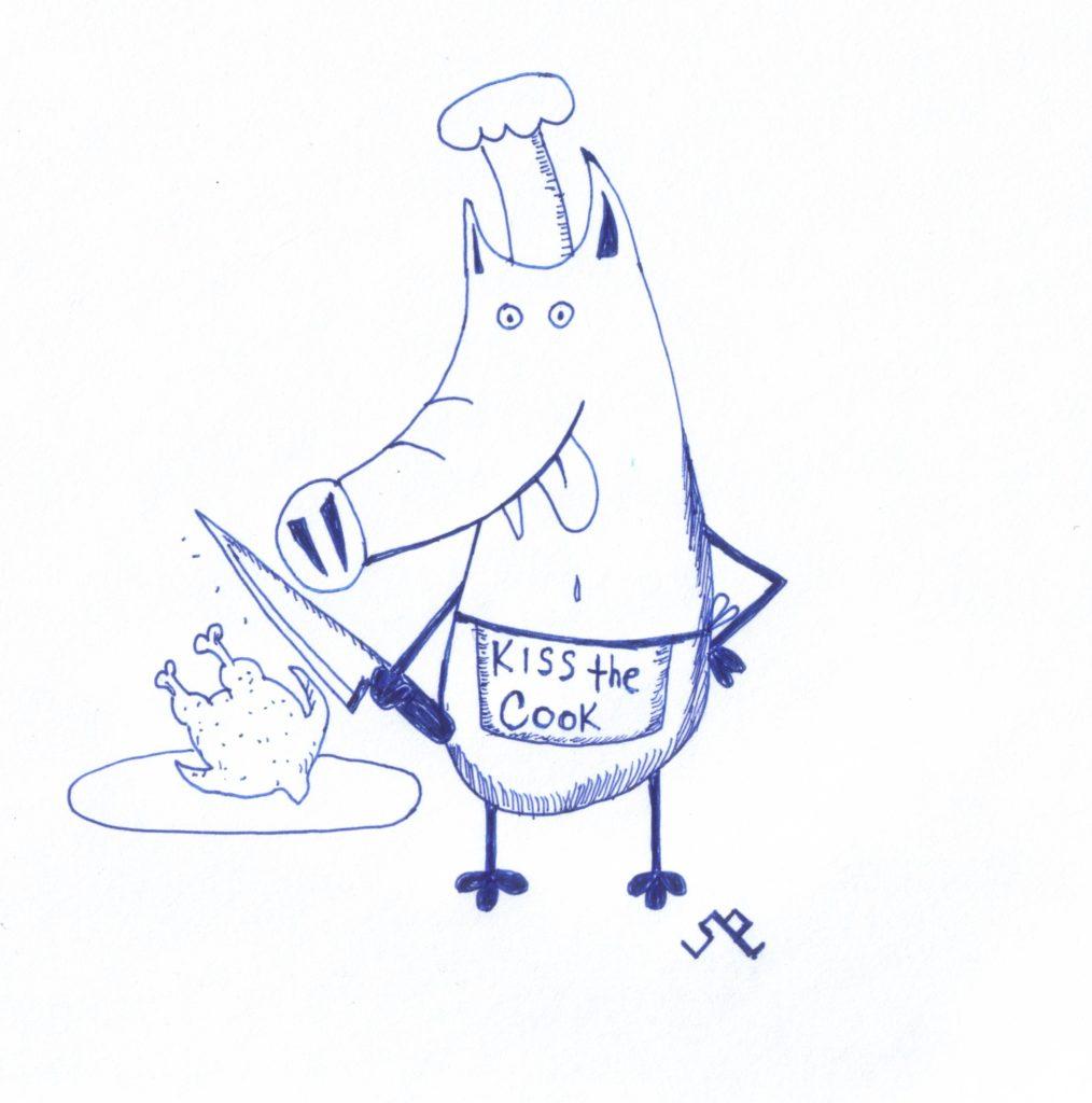 свинсент готовит блюдо