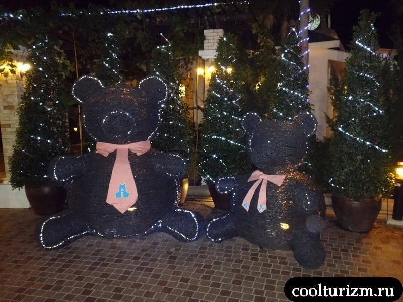 медведи в Амбассадоре.Тайланд