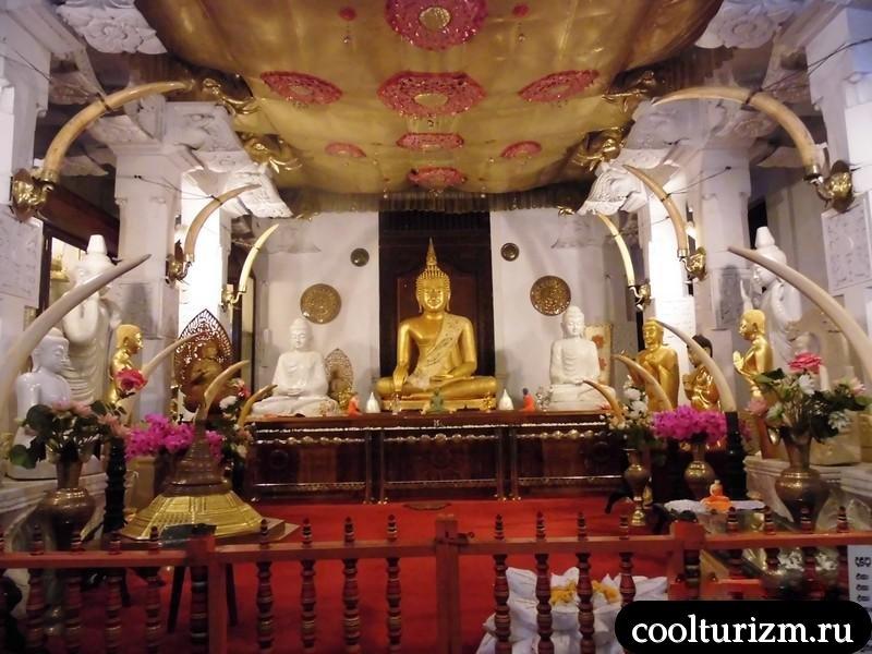 будда в храме будды.Шри ланка