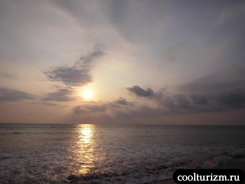Индийский океан на закате