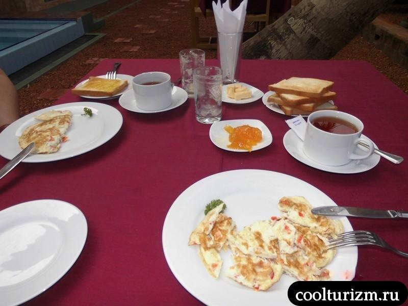 завтрак туриста в Шри Ланке