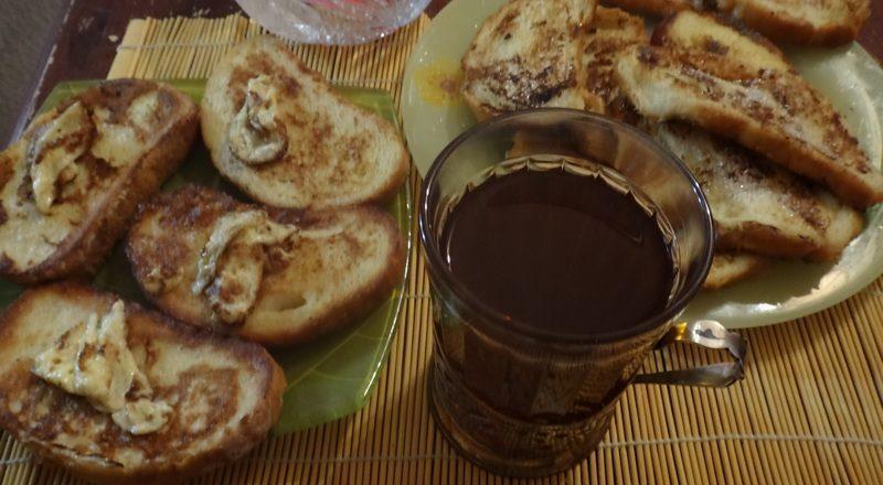 гренки,белый хлеб,молоко,сахар,яйцо,завтрак