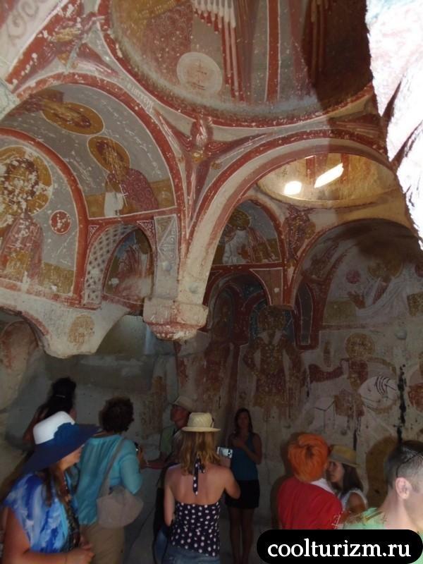 внутри церкви в скале.Гереме