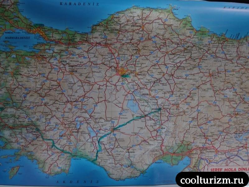 Экскурсия в Каппадокию карта.алания-Каппадокия