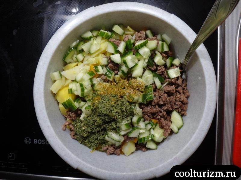готовим необычный салат оливье