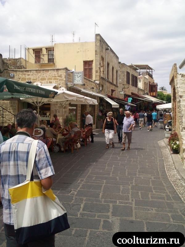 торговая улица на Родосе.старый город