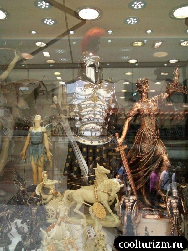 витрины магазинов на Родосе.Греция