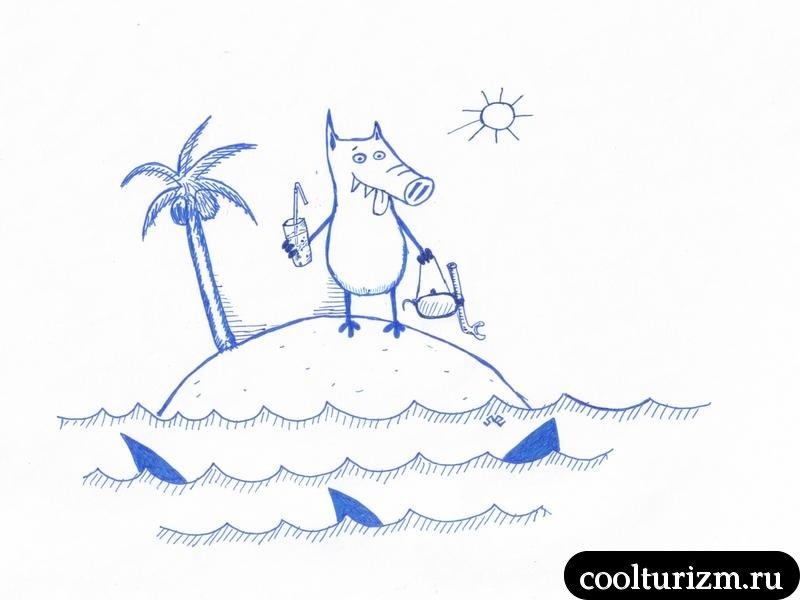 остров.акулы.жара