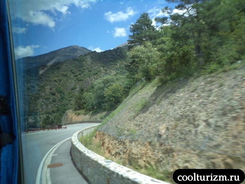 Андорра горная дорога