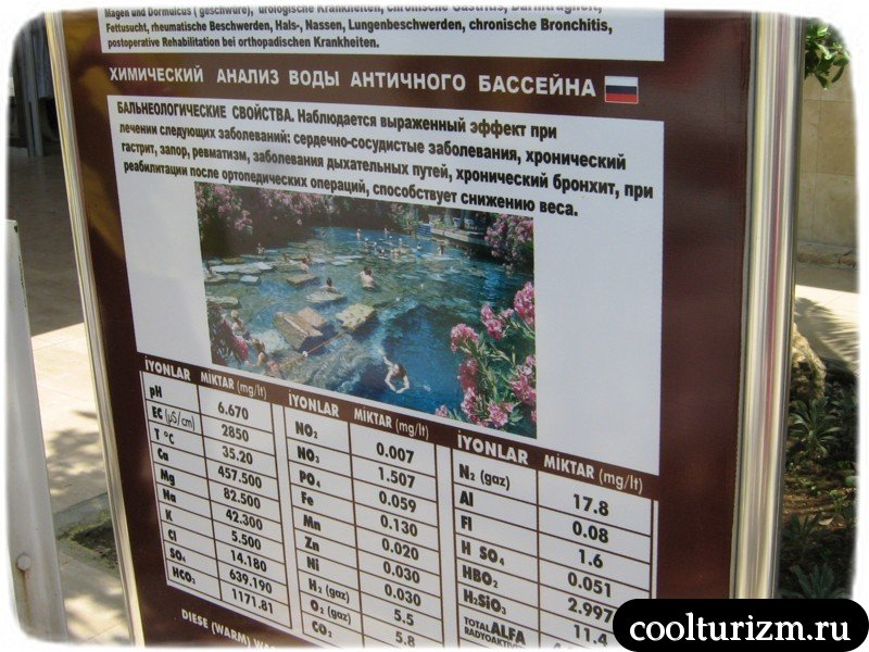 бассейн клеопатры типа лечебная вода