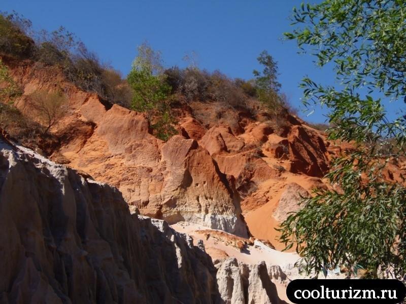 надписи на склонах ручья фей Муйне