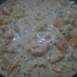 Креветки в сливочном соусе. Рецепт.