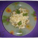 Простой салат с треской. Рыбный салат с картошкой.