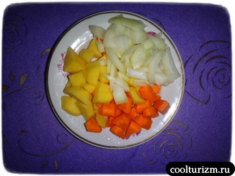 гороховый суп овощи