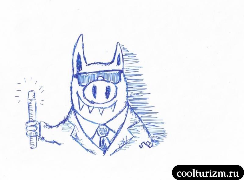 свиньи в чёрном