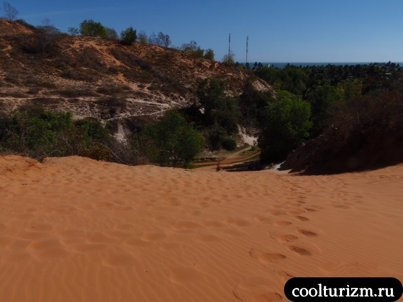 ручей Фей высокая песчаная гора в Муй не