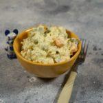 Простой салат с треской. Рыбный салат с картошкой