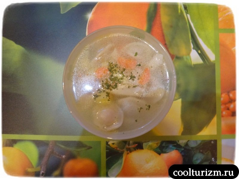 пельменный суп готов