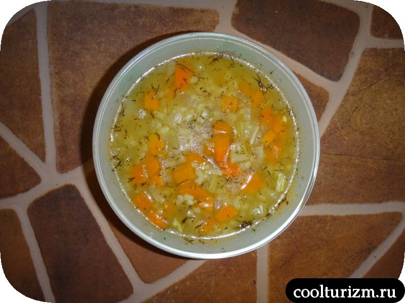 рисовый суп готов