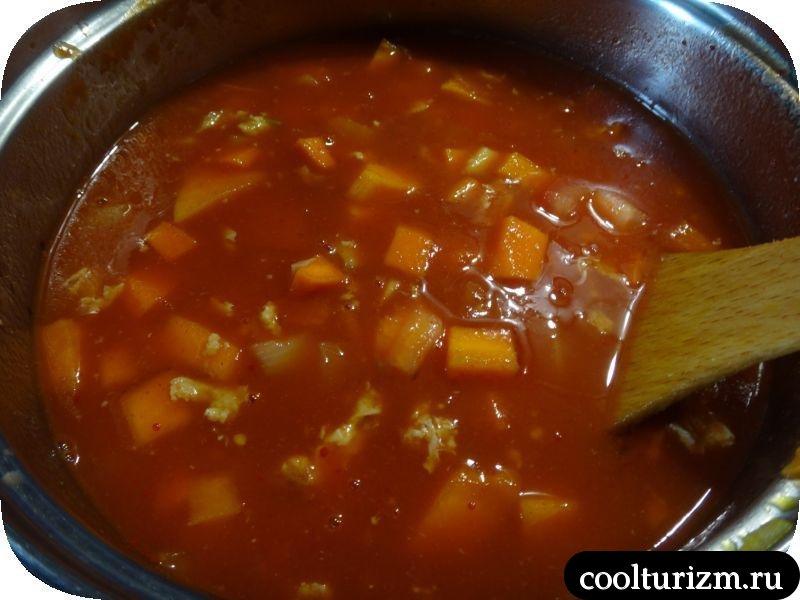 томатная паста в супе