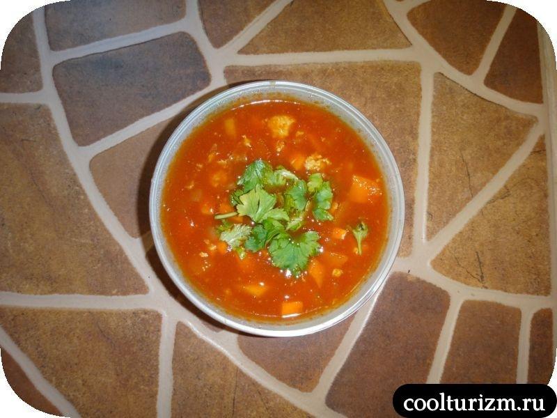 томатный суп готов