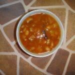 Томатный суп с консервированной фасолью