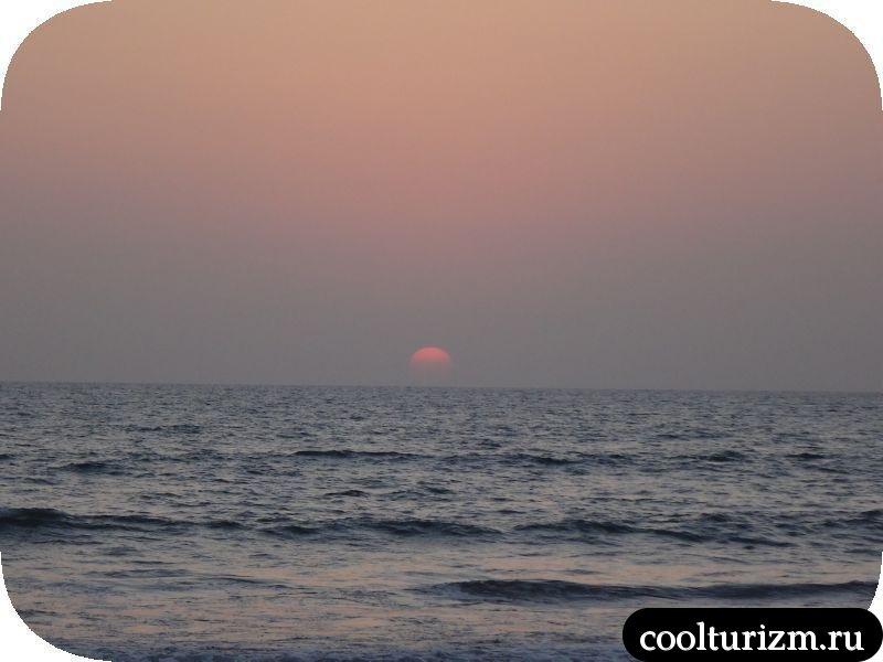 очередной закат на море.Индия