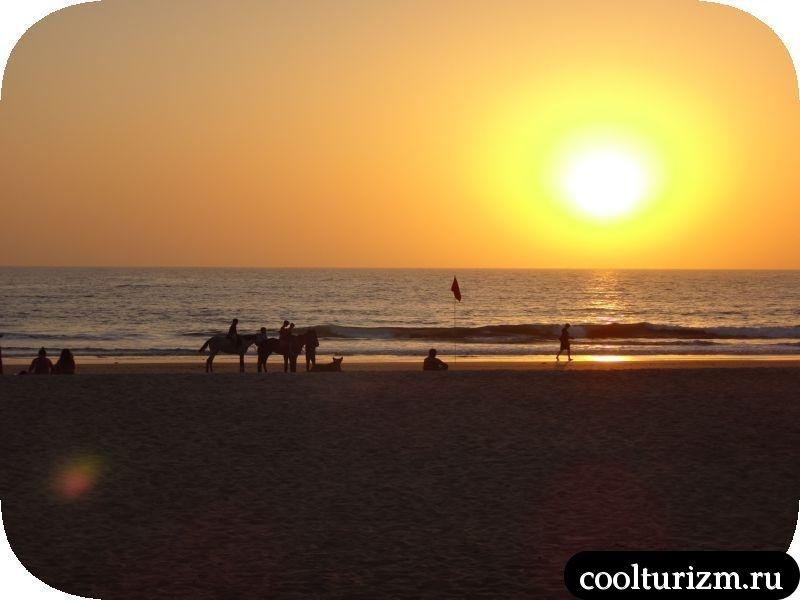 закат солнца в Гоа