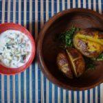 Огуречный соус и картошка в мундире. Волшебный вкус
