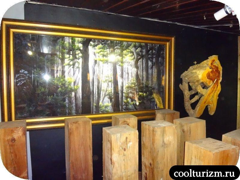 картина Далат лес вьетнам шелк