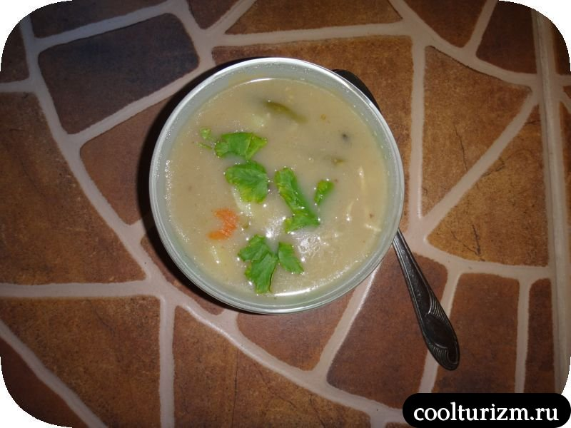 овсяный суп из курицы